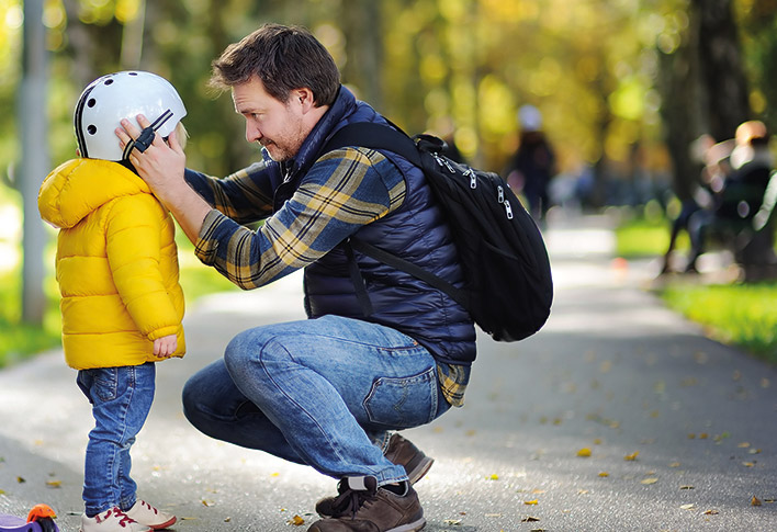 man with child