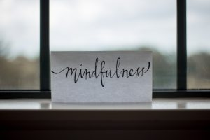 hand written word mindfulness